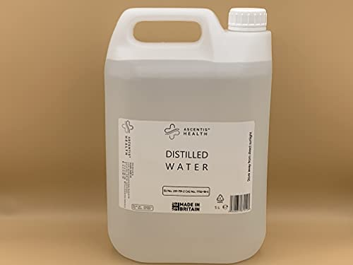 Agua destilada ultra pura (5 litros)