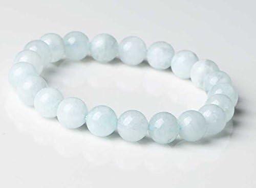 JP_Beads 8mm Delicate Super Special SALE held Aquamarine Bracelet Super sale Necklace J