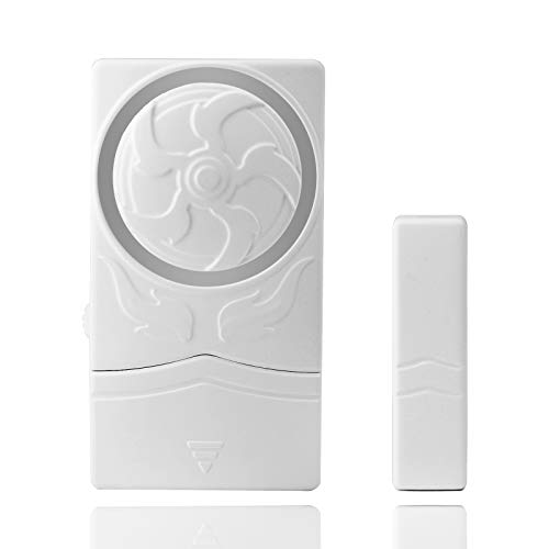 GREENCYCLE 1PK Door and Window Alarm 4-in-1 Mode Window Alarms for Wireless Alarm Security System Magnetic Alarm Sensor Time Delay Alarm Loud 110 dB for Home Garage Kids Safety and Refrigerators
