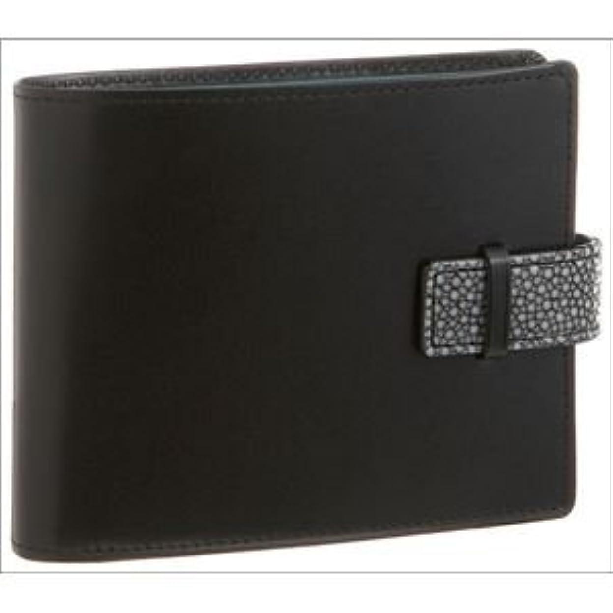 ヘッジ同様の週末Colore Borsa(コローレボルサ) 二つ折りコインケース付き財布 ブラック MG-001
