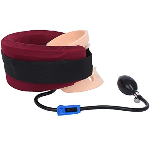 JMYSD Soporte de Cuello Ajustable con Soporte de vértebra Cervical para alineación de la Columna Vertebral, Alivio del Dolor de Cuello para el hogar/Oficina
