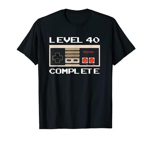 40th Birthday Ideas Level 40 Complete Gamer T-Shirt
