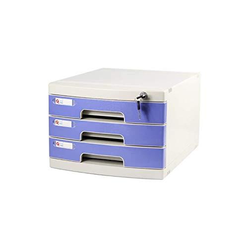 Soporte de archivo duradero, Archivo de almacenamiento de oficina multifunción Rack de archivos, caja de almacenamiento de escritorio Mueble Archivo Archivo 2/3 cajones, con bloqueo de alta capacidad