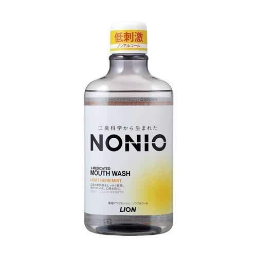 (ライオン)ノニオ マウスウォッシュ ノンアルコール ライトハーブミント 600ml(医薬部外品)/新商品/(お買い得3個セット)