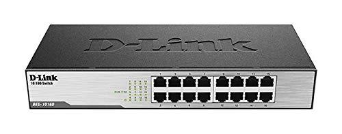 D-Link DES-1016D Switch 16 Porte Fast Ethernet 10/100 Mbps, Nero/Antracite