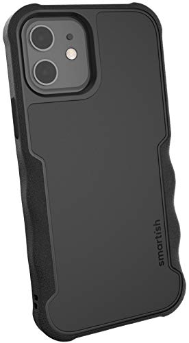 Smartish iPhone 12/12 Pro Armor Case - Gripzilla [Rugged + Protective] Slim Tough Grip Cover - Black Tie Affair