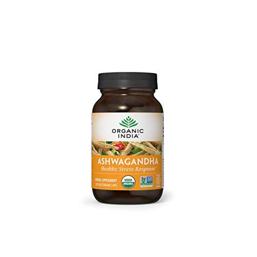 ORGANIC INDIA Ashwagandha Supplement, Healthy Stress Response, 90 Veg Caps