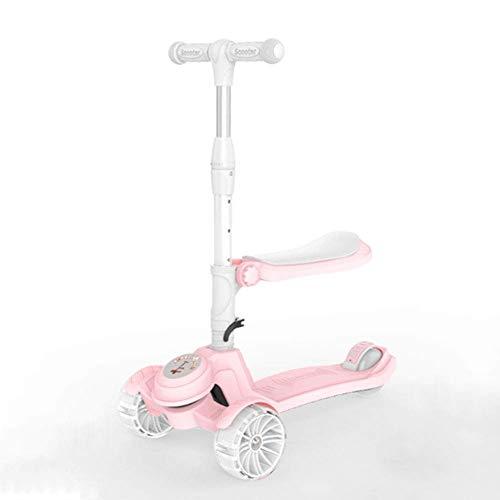 Lcxliga Scooter 2 en 1 con Asiento extraíble Ideal for niños y niñas pequeñas o niños