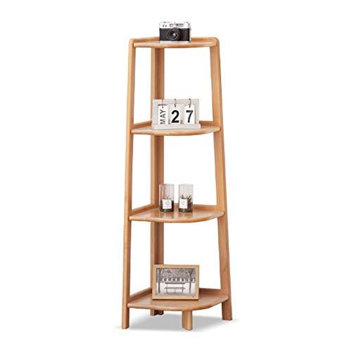 Estante para libros Estante de la escalera de la esquina de la madera sólida de la estantería de la estantería de la estantería del organizador de la pantalla de la planta Muebles de rack de almacenam
