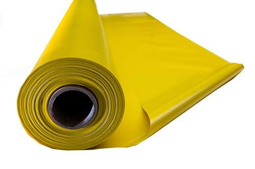 Premium PVC Plane, Abdeckplane, LKW-Plane, Schutzplane, 650 g/m², wetterfest, wetter- und reißfest (1m x 2,50m, Gelb)