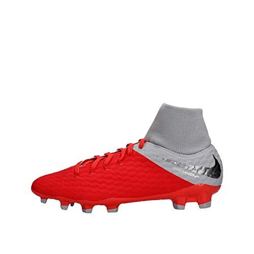 Nike Hypervenom 3 Academy DF Fg, Scarpe da Ginnastica Basse Unisex-Adulto, Multicolore Lt Crimson Mtlc Dark Grey Wolf Grey 600, 42.5 EU