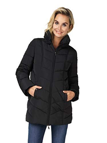 Noppies Damen Jacke Jacket Umstandsjacke Winter wattiert hohem Kragen (M, Schwarz (Black))