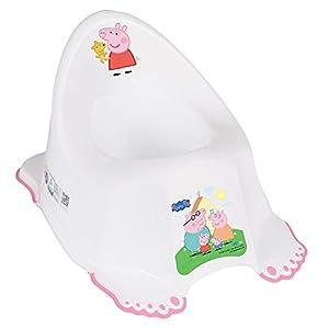 Tega Baby ® - Orinal infantil para aprender a ir al orinal, antideslizante y especialmente seguro, anatómico y ergonómico, de plástico de alta calidad, diseño: Peppa Pig – Rosa