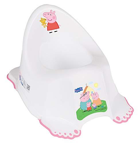 Tega Baby® - Vasino per bambini | Sedile WC per imparare il vasino | Antiscivolo e particolarmente sicuro | anatomico ed ergonomico | in plastica di alta qualità | Motivo: Peppa Pig – Rosa