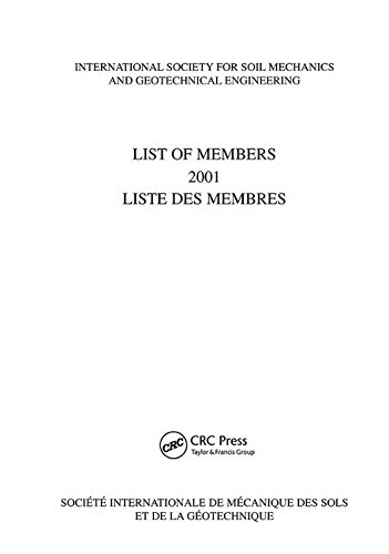 List of Members 2001: ISSMGE: International Society for Soil Mechanics and Geotechnical Engineering
