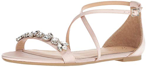 Jewel Badgley Mischka Women's Tessy Sandal, champagne, 7 Medium US