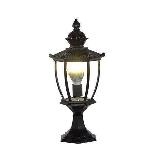 Lámpara de pared al aire libre Lámpara de columna de luz de pared, Lámpara de mesa de escritorio al aire libre Lámpara de columna Tradición Linterna de vidrio antiguo Aluminio Impermeable Continental