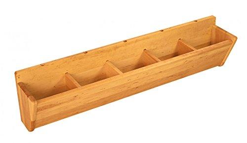 BioKinder 23457 Robin Kindergarderobe Hänge-Garderobe mit 5 Fächern aus Massivholz Erle 100 cm