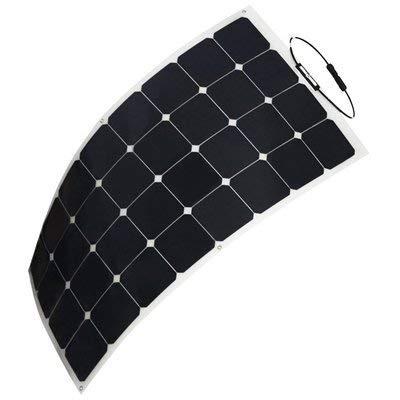 HQST 100W 12V Solarpanel Solarladegerät Solarmodul SunPower Flexibel Leichtes mit MC4 für RV, Boot, Kabine, Zelt, Auto, Anhänger, Camper oder Jede Andere Unregelmäßige Oberfläche
