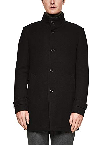 s.Oliver BLACK LABEL Herren Modern Fit: Kurzmantel mit Struktur Black Tweed 50