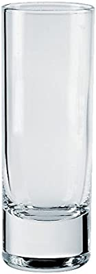 Borgonovo Indro Juego de 6 Tequileros de Vidrio, Cristal, 60 ml