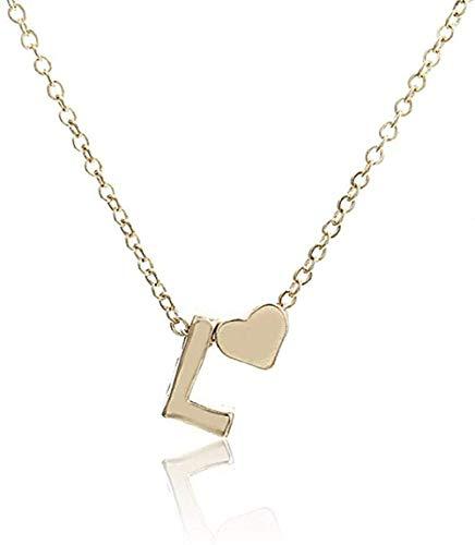 Collar Inicial Personalidad Letra Nombre Collar Colgante de Oro Regalo de la joyería