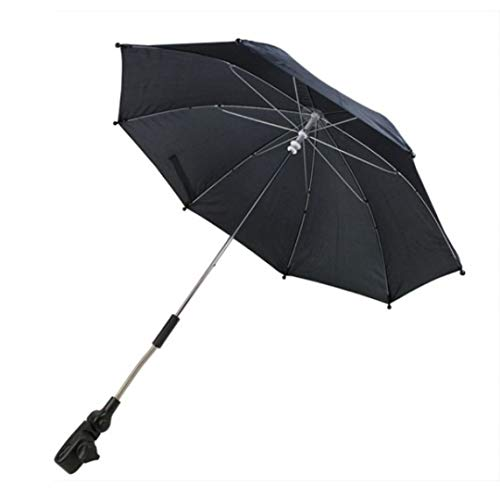 First Steps Pram Buggy Pushchair Universal Automatic Parasol Umbrella Sunshade (Black)