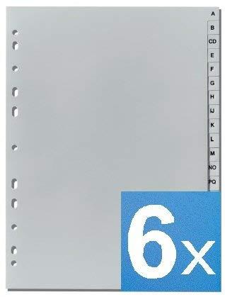 5-Star - Separadores de letras 'A-Z' DIN A4, altura completa, gris (6)