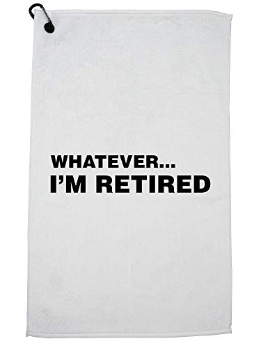 Hollywood Thread Whatever.I'm Retired - Funny Retirement - Apathetic Golf Towel with Carabiner Clip