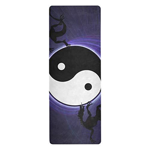 TropicalLife Ghypt - Esterilla de yoga antideslizante para todo tipo de ejercicios de yoga, pilates, casa (70.8 x 26 pulgadas)