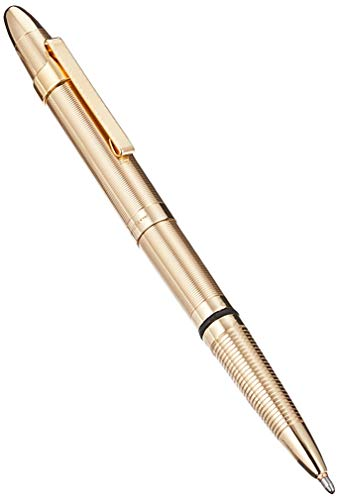 Fisher Space Pen Bullet Space Pen with Clip Gold Laquered Brass Gift Boxed 400GGCL