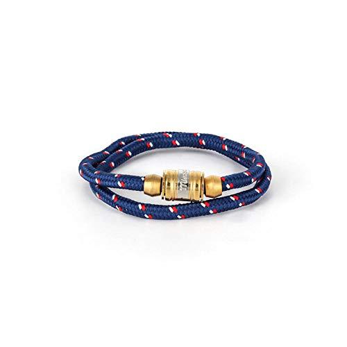 Zuiaidess Bracelet Tressé,des Couples Tissés À La Main en Acier Titane Bleu Sangle Nylon Réglable Bracelets Plaie Lifeline pour Femmes Hommes Accessoires Sports De Plein Air