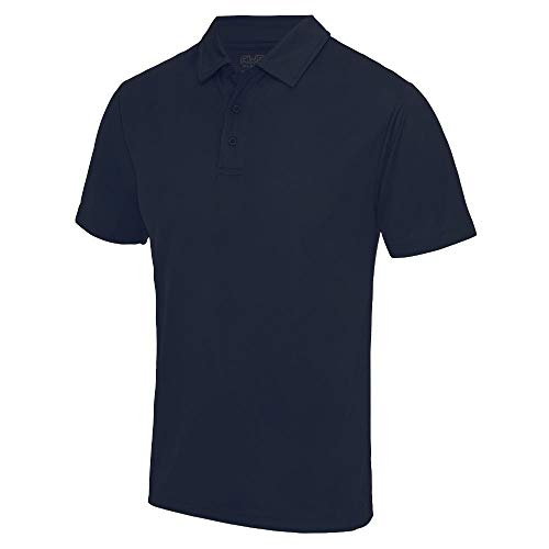 Just Cool - Herren Funktions Poloshirt 'Cool Polo' / French Navy, L L,French Navy