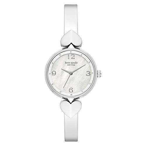 Kate Spade Hollis dreizeiger Edelstahl armreif Uhr ton silberKSW1562