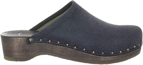 Berkemann Velours-Toeffler Unisex-Erwachsene Clogs, Blau (Blau), 47 EU