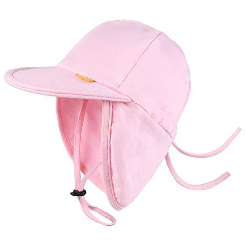FURTALK Kleinkind Sonnenhut UPF 50+ Ganztägiger UV-Schutz Kappe Mädchen & Jungen Sommer Kappe mit Verstellbarer Kinnriemen und Halsklappen