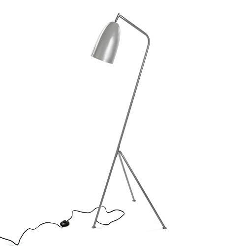 Versa 20840035 Lámpara de pie Gris de Metal, 148 x 50 x 57 cm