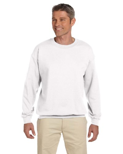 HeavyBlend adult crew neck sweatshirtWhite L