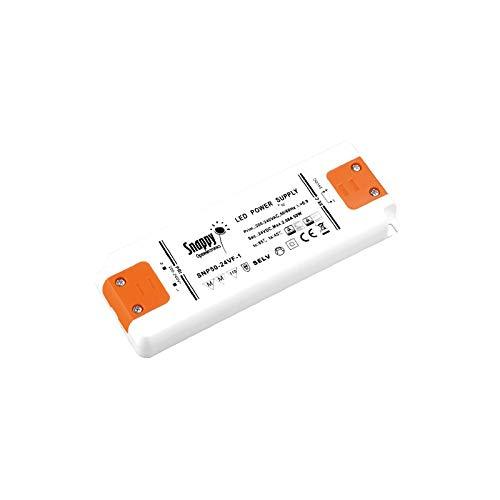 KingLed – LED Fuente de Alimentación SNAPPY Enclosed SNP50-24VF-1, 50W 24V, AC 220V, 2.8 Ampere, 1 salida, Transformador para Productos LED – Cód. 2348