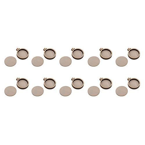 SM SunniMix 10pcs Cadres de Cercle Cadres Ronds en Bois Tambour à Broder pour Arts à L'aiguille Peinture sur Tissu Cadeaux Créatif 4.7x4cm