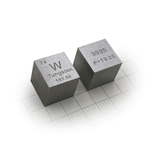 Serie De Cubos De Elementos Naturales De La Tierra, Cubo De Densidad De Tungsteno (W) Con Una Pureza Superior Al 99,9%, Para Material De Experimentos De Laboratorio, Pasa(Size:10 × 10 mm,Color:Mate)