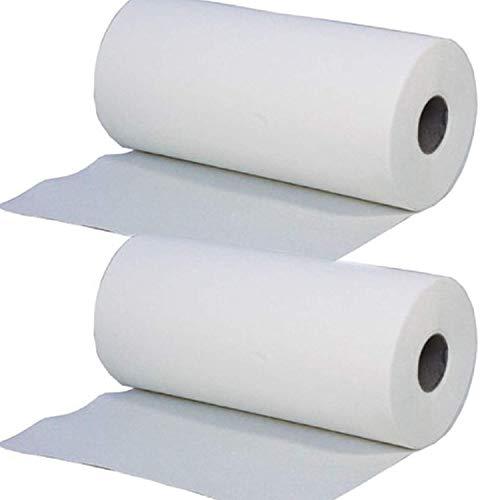 2 x Simply Direct Rotoli Massaggio Letto Bianco 2 Strati. Rotolo Igiene. 24cm Larghezza x 50 Metri Lunghezza