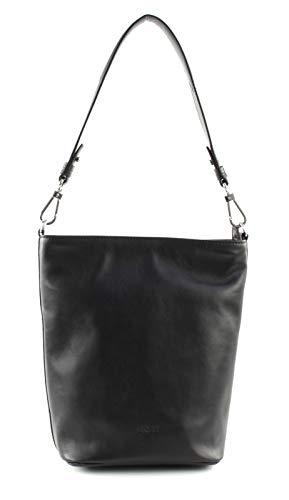 BREE Damen Stockholm 44, Black, Bucket Bag Umhängetasche Schwarz (Black)