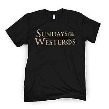 Sundays are for Westeros T-Shirt  2X-Large  Black