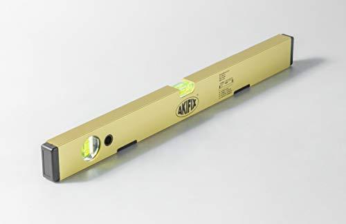 Akifix NSM19008 Wasserwaage, magnetisch, 2 Ampullen, antike Blasen, Präzision