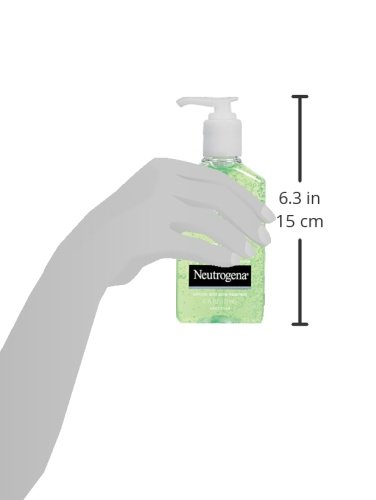 Neutrogena OilFree Acne and Redness Facial Cleanser Soothing Face Wash with Salicylic Acid Acne Medicine Aloe and to Reduce Facial Redness, chamomile, 6 Fl Oz