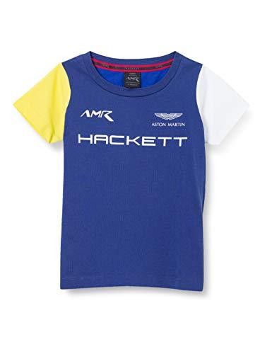 Hackett London AMR tee B Camiseta, 5alblue/Multi, K05 para Niños