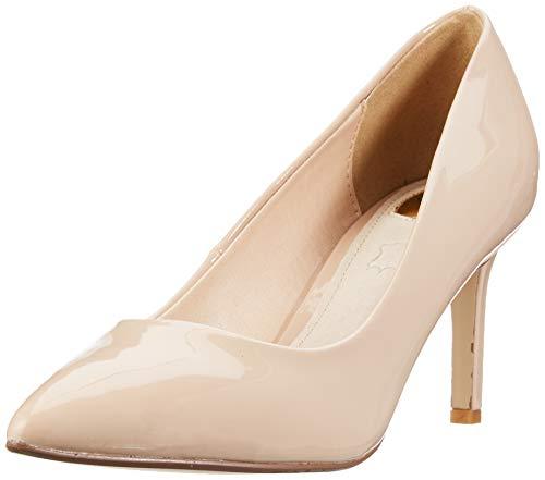 Buffalo Alivia, Zapatos Tacón Mujer, Beige Nude 000