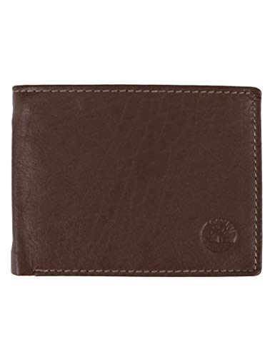 Timberland mens Wellington Leather Rfid Bifold Commuter Security Wallet, Cognac, One Size US