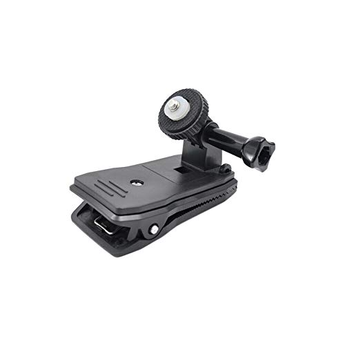 Henghx 360 Degree Rotation Action Camera Backpack Clip Mount Rucksack Versatile Clamp with 1/4 Inch Screw for Insta360 One/EVO